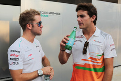 Sam Bird, Mercedes AMG F1 Test And Reserve Driver with Jules Bianchi, Sahara Force India F1 Team Third Driver