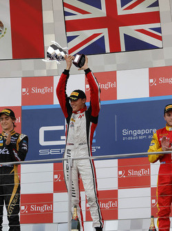 Podium: race winner Max Chilton