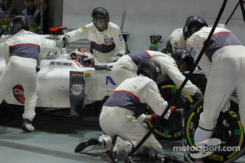 Kamui Kobayashi, Sauber pitstop