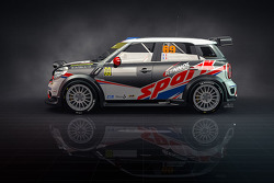 The Mini WRC to be driven by Romain Dumas at the French Rally Alsace