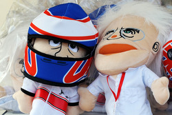 Jenson Button, McLaren and Bernie Ecclestone, CEO Formula One Group, hand puppets on sale
