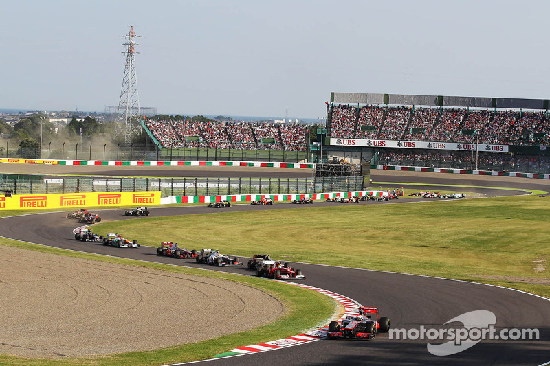 Jenson Button, McLaren race start