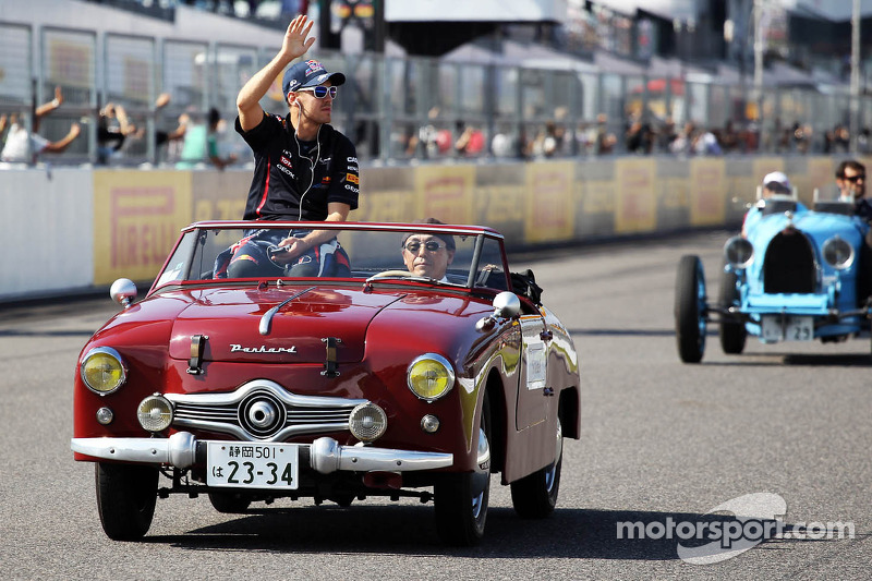 Sebastian Vettel, Red Bull Racing rijdersparade
