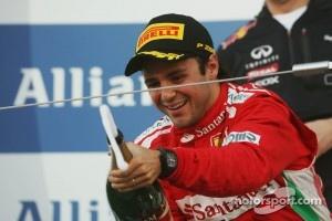 Felipe Massa suffers from premature champagne elation on the podium
