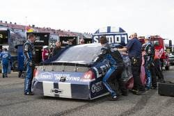 Wrecked car of Jimmie Johnson, Hendrick Motorsports Chevrolet
