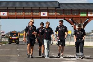 Sebastian Vettel verifying the Korean GP track.
