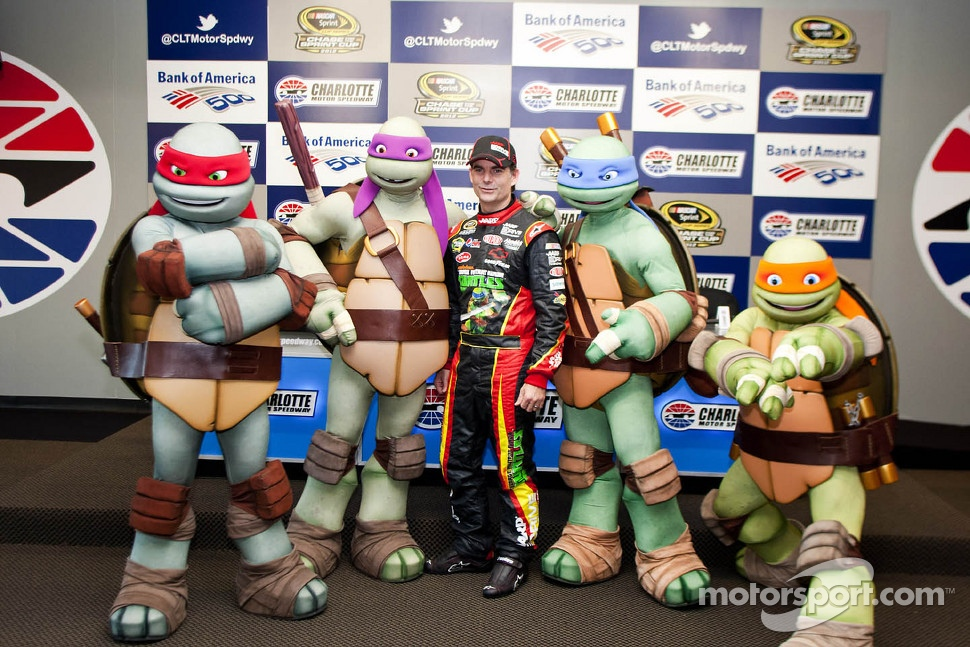The Teenage Mutant Ninja Turtles with Jeff Gordon