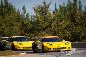 #3 Corvette Racing Chevrolet Corvette C6 ZR1: Jan Magnussen, Antonio Garcia, Jordan Taylor, #4 Corvette Racing Chevrolet Corvette C6 ZR1: Oliver Gavin, Tom Milner, Richard Westbrook