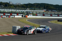 Tom Boardman, SEAT Leon WTCC,  Special Tuning Racing and Alberto Cerqui, BMW 320 TC, ROAL Motorsport