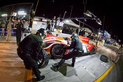 Pit stop for #37 Conquest Endurance Morgan Nissan: Martin Plowman, David Heinemeier Hansson, Eric Lux