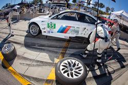 Pit stop for #55 BMW Team RLL E92 BMW M3: Bill Auberlen, Jorg Muller, Jonathan Summerton
