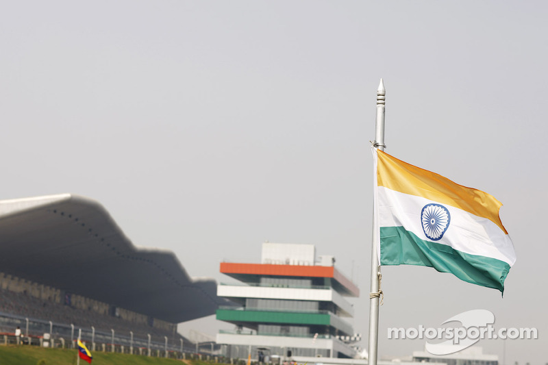 Indian flag at the circuit