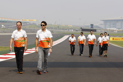 Jules Bianchi, Sahara Force India F1 Team derde rijder op circuit