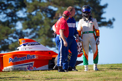 Martin Scuncio after his crash