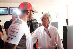 Bernie Ecclestone, celebra su cumpleaños 82 con Lewis Hamilton, McLaren