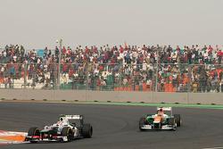 Sergio Perez, Sauber F1 Team and Nico Hulkenberg, Sahara Force India Formula One Team