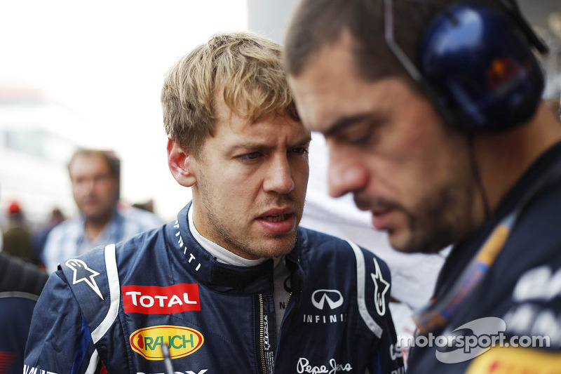 Sebastian Vettel, Red Bull Racing op de grid
