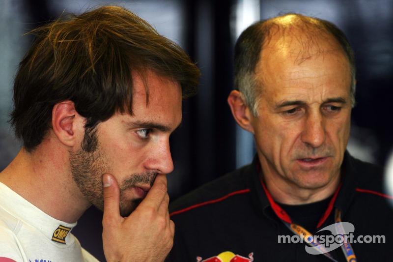 Jean-Eric Vergne, Scuderia Toro Rosso with Franz Tost, Scuderia Toro Rosso Team Principal