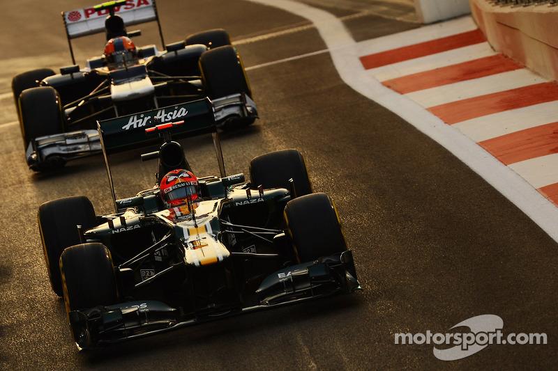 Heikki Kovalainen, Caterham en Bruno Senna, Williams uit de pits