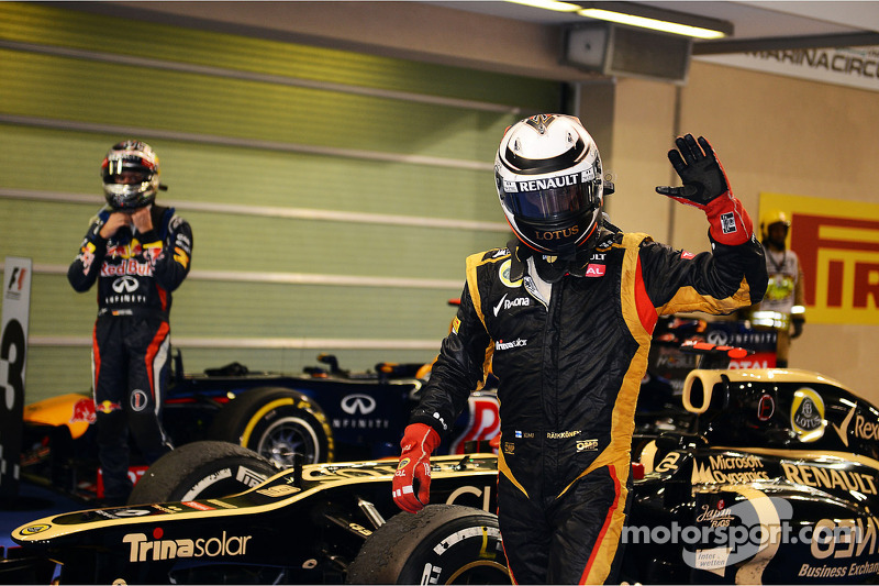 """2012 - Kimi discutiu com engenheiro no rádio durante a prova: """"me deixa em paz, eu sei o que estou fazendo"""""""