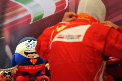 Fernando Alonso, Ferrari with his mascot Tomita