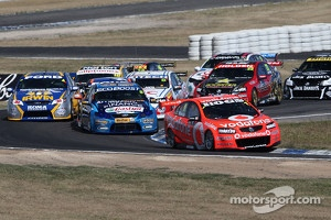 V8 Supercars Australia main series tightly-packed action