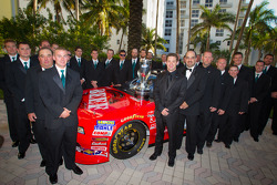 NASCAR Nationwide Series champion driver Ricky Stenhouse Jr., Roush-Fenway Ford poses with his team