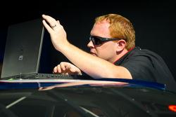 Penske Racing Dodge team member at work