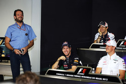 Sebastian Vettel, Red Bull Racing and Michael Schumacher, Mercedes AMG F1 in the FIA Press Conference