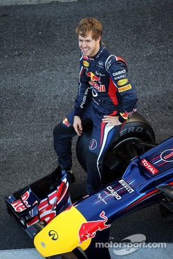 Sebastian Vettel, Red Bull Racing at a team photograph
