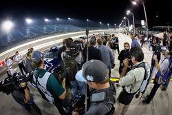 Jimmie Johnson, Hendrick Motorsports Chevrolet with media