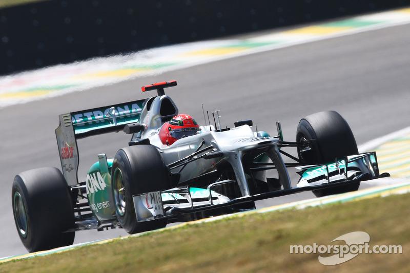 Михаэль Шумахер. ГП Бразилии, Вторая пятничная тренировка.