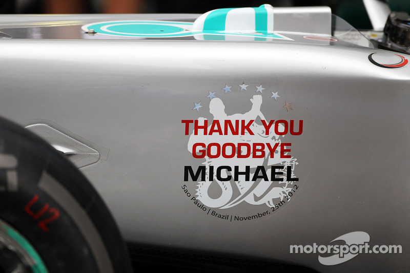 Mercedes despide a Michael Schumacher, Mercedes AMG F1