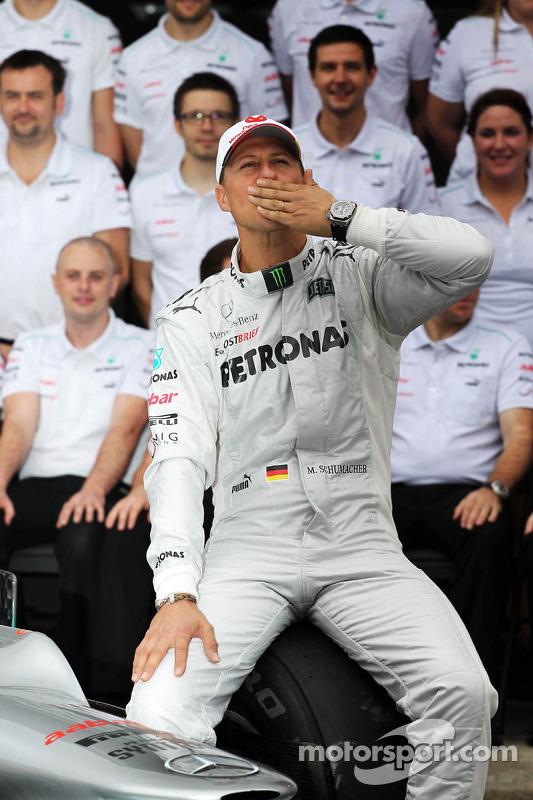 Michael Schumacher, Mercedes AMG F1 at a team photograph