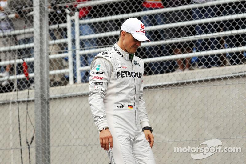 Michael Schumacher nach seiner letzten Fahrerparade