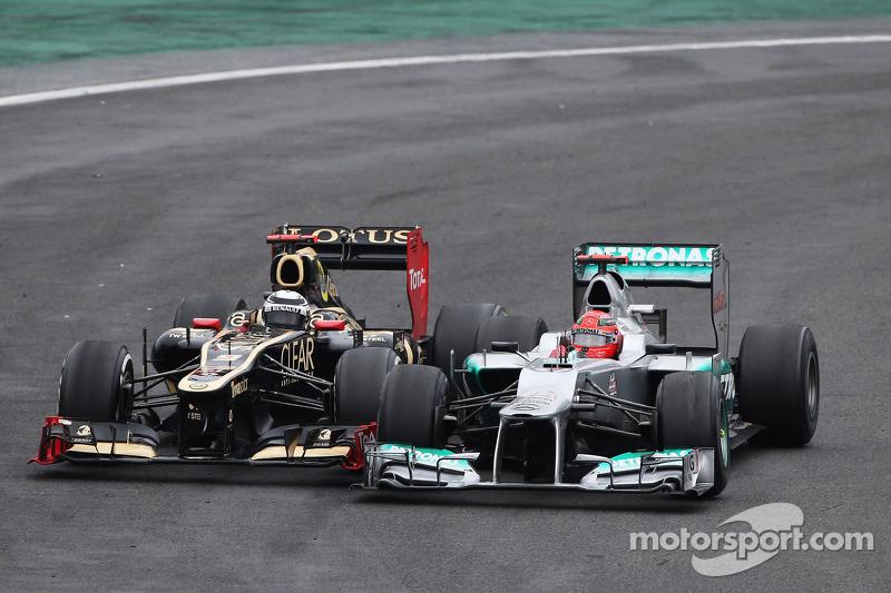 Михаэль Шумахер и Кими Райкконен. ГП Бразилии, Воскресная гонка.