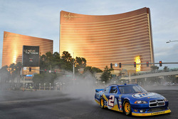 Brad Keselowski during the NASCAR Victory Lap at Las Vegas