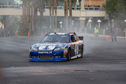 Jimmie Johnson does a burnout