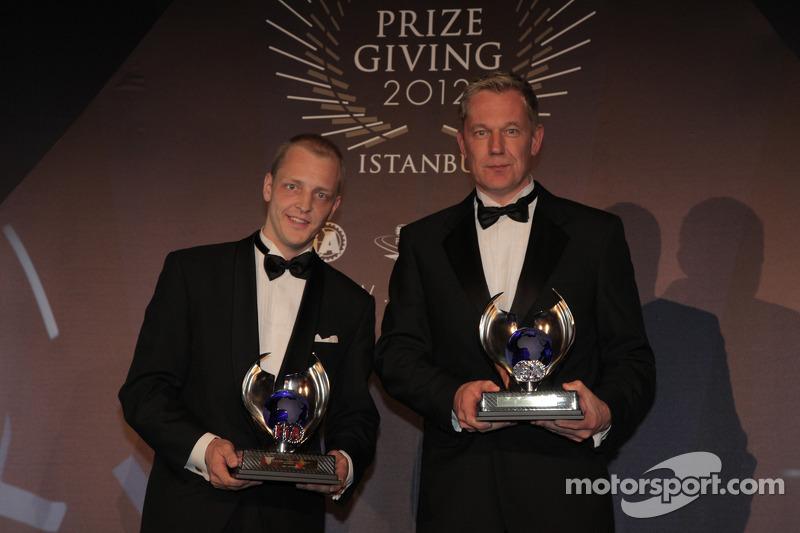 Микко Хирвонен и Ярмо Лехтинен. Церемония награждения FIA, Стамбул, Турция, Особое мероприятие.