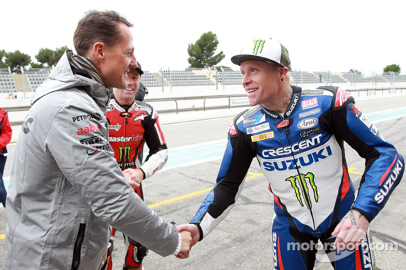 Michael Schumacher and Keith Flint at December special event