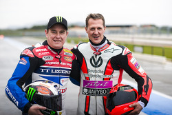 Michael Schumacher and John McGuinness