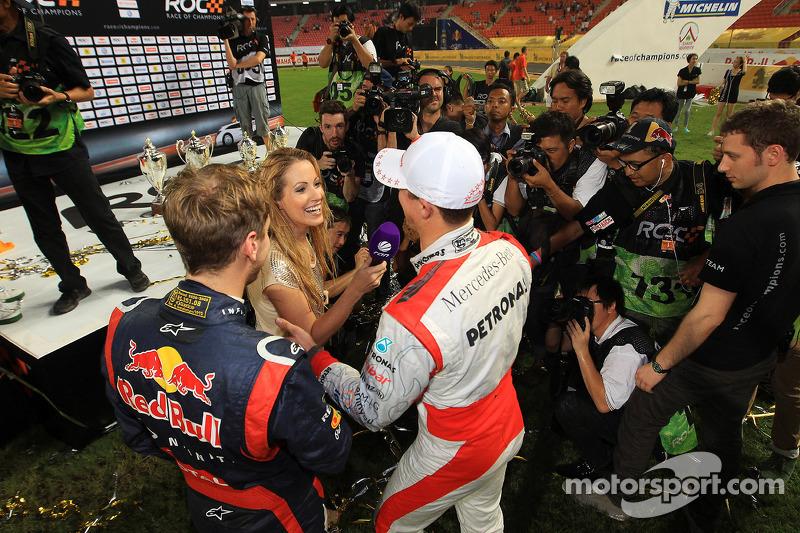Primer lugar Sebastian Vettel y Michael Schumacher