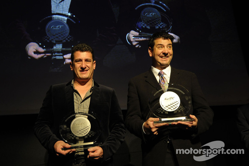 LMP2 champion Enzo Potolicchio with Peter Baron, Starworks