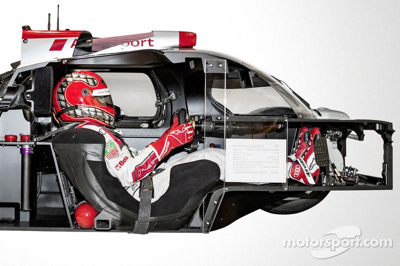 Audi R18 e-tron quattro в разрезе, особое событие.