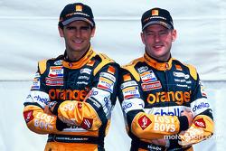 Pedro de la Rosa and Jos Verstappen