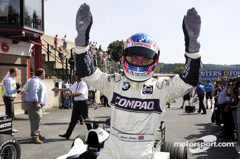 Jenson Button em seu ano de estreia pela Williams, no ano 2000