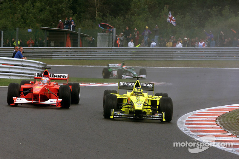 Heinz-Harald Frentzen en Rubens Barrichello