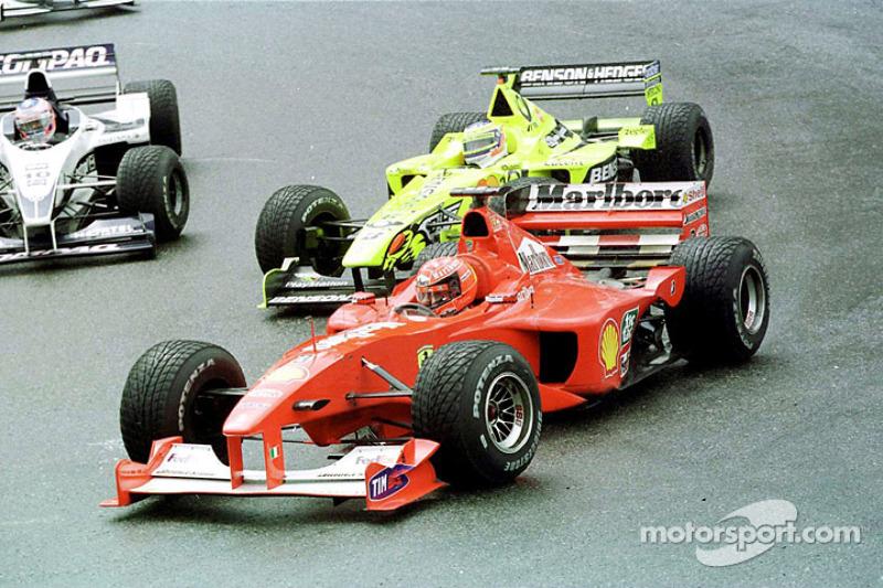 Michael Schumacher lors du GP de Belgique