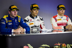 Press conference: winner Nobuharu Matsushita, ART Grand Prix, second place Oliver Rowland, DAMS, third place Nyck De Vries, Rapax