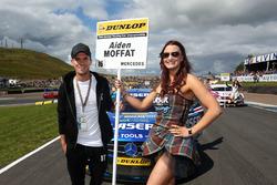 Grid girl of Aiden Moffat, Laser Tools Racing Mercedes Benz A-Class